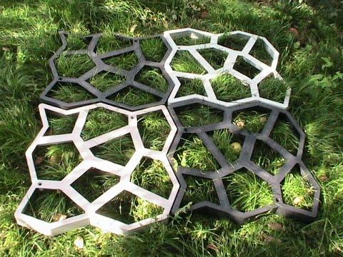 Формы для производства тротуарной плитки - YouTube