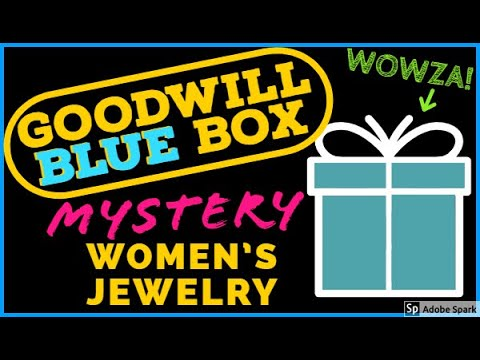 GOODWILL BLUE BOX UNBOXING | MYSTERY JEWELRY BOX UNBOXING | REVEAL UNJARRING OPENING | SILVER