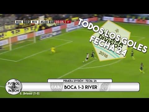 TODOS LOS GOLES: Primera División - Fecha 24 (LA FECHA DE LOS CLÁSICOS)