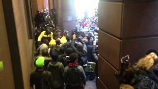 Protesters outside Chicago Board Options Exchange