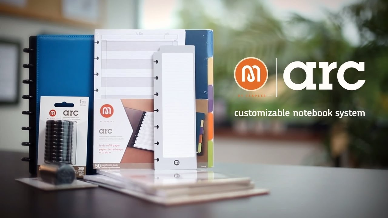 arc customizable notebook a staples exclusive youtube