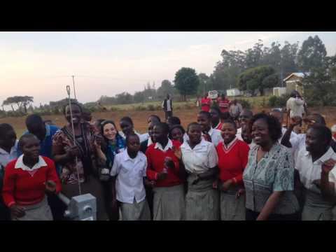Celebration of new water well, Shisango Girls School, Kenya
