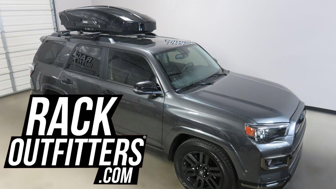 Toyota 4 Runner With Thule Motion Xt Large 16 Cf Rooftop Cargo Box Youtube