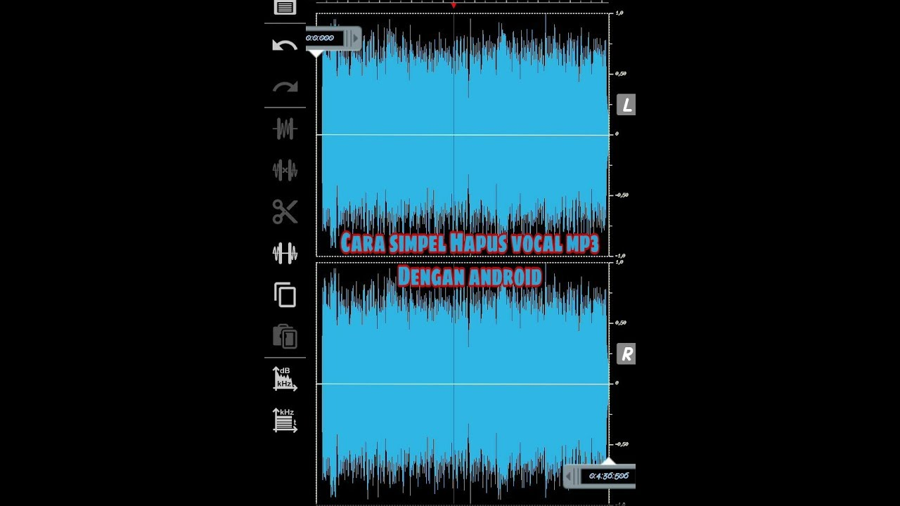 Cara Mudah Hapus Vocal Lagu Mp3 Menjadi Karaoke Pake Hp Youtube