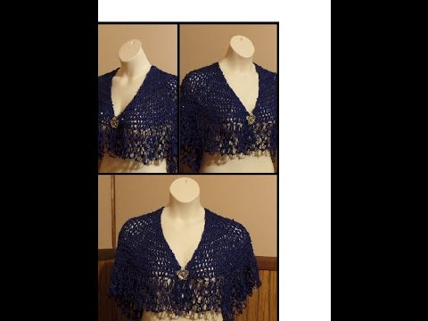CROCHET How to #Crochet Womens Shawl Wrap Scarf #TUTORIAL #193 LEARN CROCHET