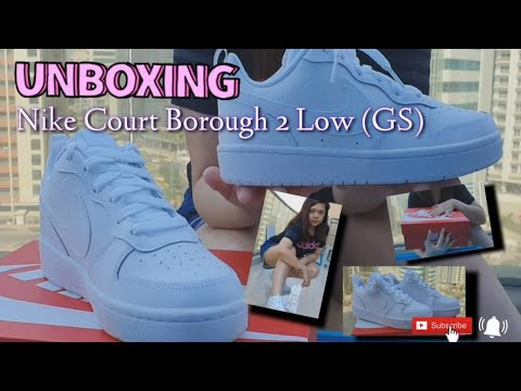 Nike Court Borough 2 Low (GS)   Unboxing   Review (short)