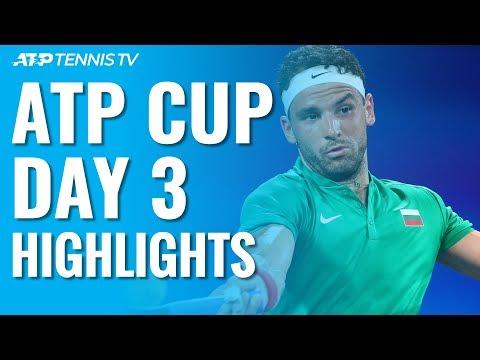 Tsitsipas & Medvedev On Form; De Minaur & Dimitrov Impress | ATP Cup 2020 Day 3 Highlights