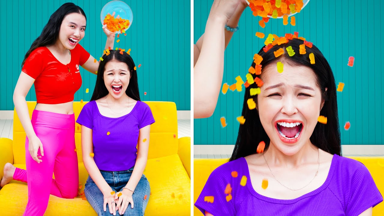 Gummy Bears Challenge! Gummy Bears Hacks! The BEST DIY Food Challenge and Candy Hacks by T-FUN