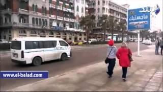 بالفيديو والصور.. استمرار إغلاق بوغازي الإسكندرية والدخيلة بسبب الطقس السيئ