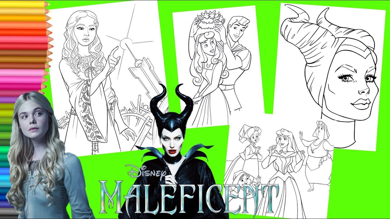 Coloring Disney Maleficent Mistress Of Evil Movie Sleeping Beauty Coloring Pages Youtube