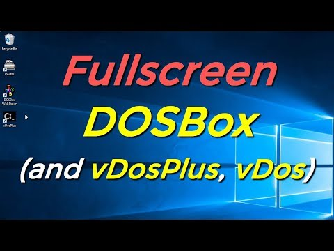 Fullscreen DOSBox (and vDosPlus, vDos) - YouTube