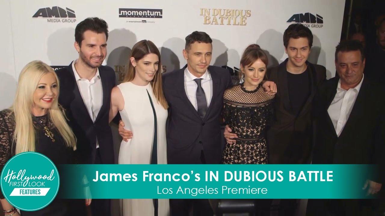 James Franco Girlfriend History Ele in dubious battle premiere with james franco, nat wolff, ashley