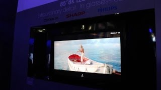 "Sharp 8K 85"" Glasses Free 3D TV"