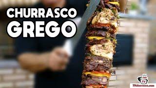 Como Fazer Churrasco Grego na Churrasqueira Tradicional - Tv Churrasco