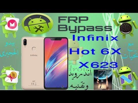 تخطى حماية جوجل اكونت frp إنفينكس هوت 6 اكس      infinix hot 6X      x623