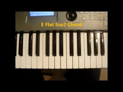 How To Play Eb Sus2 Chord On Piano Ebsus2 Youtube