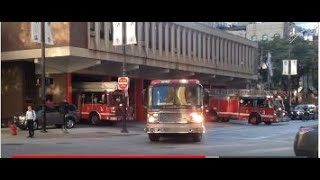 Chicago Fire Department Engine 42, Squad 1 & Truck 3 Responding