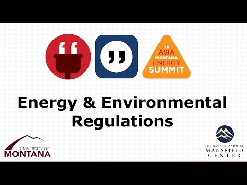 Energy and Environmental Regulations: A View from the State and Federal Level