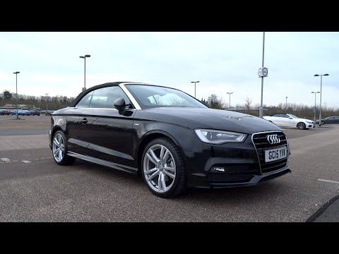 2015 Audi A3 Cabriolet 20 TDI 150 S line StartUp and Full Vehicle Tour