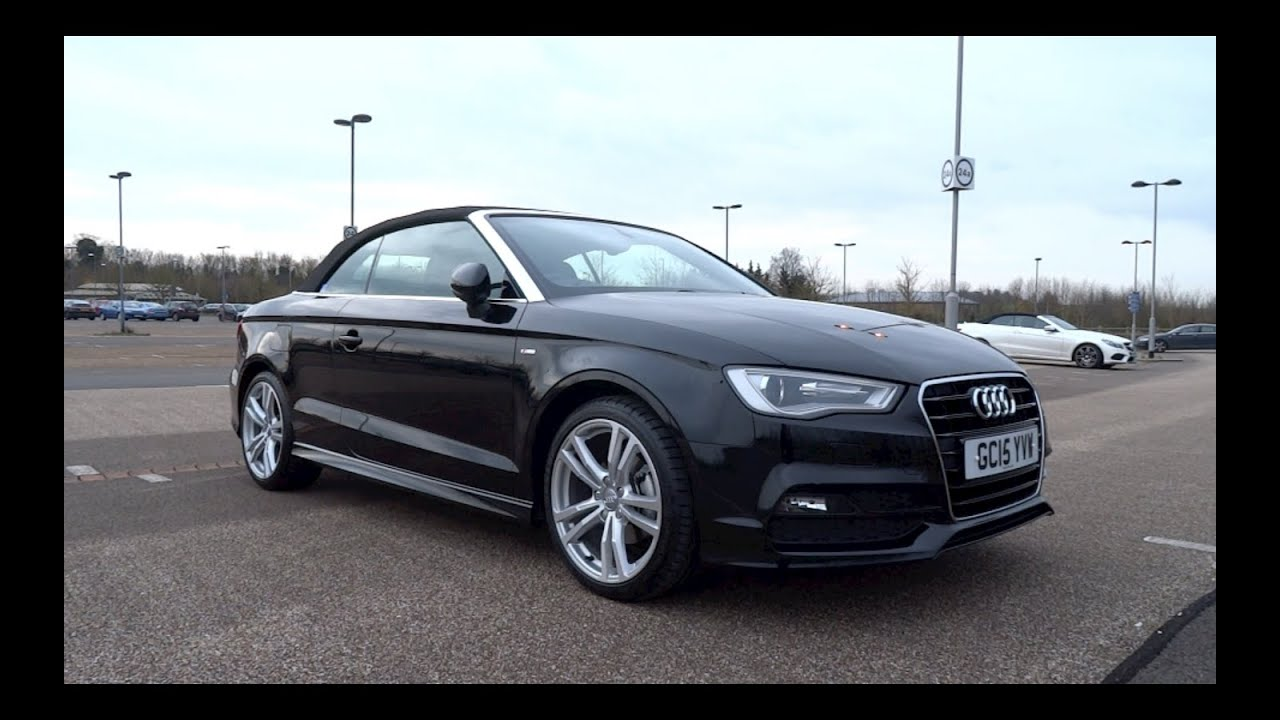 2015 audi a3 cabriolet 2 0 tdi 150 s line start up and. Black Bedroom Furniture Sets. Home Design Ideas