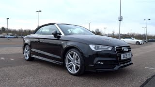 2015 audi a3 cabriolet 2 0 tdi 150 s line start up and full vehicle tour