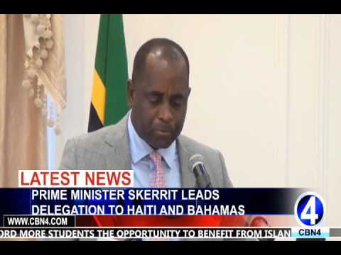 PRIME MINISTER SKERRIT LEADS DELEGATION TO HAITI AND BAHAMAS