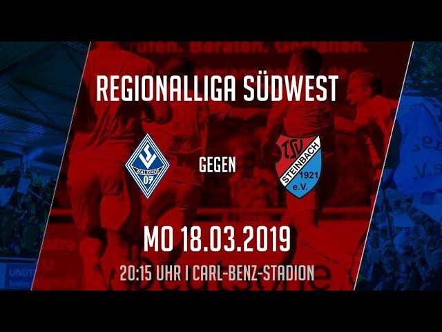 SV Waldhof Mannheim - TSV Steinbach Haiger 3:2 (Regionalliga Südwest 2018/19)