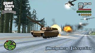 Rhino Tank VS Air Force in GTA San Andreas! (Hectic Battle)