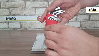 Набор ключей шестигранных с шаровым окончанием 9 шт Felo 36500901