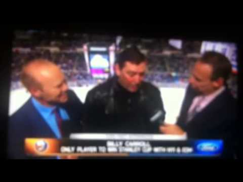 Billy Carroll Talking With Butch Goring And Howie Rose