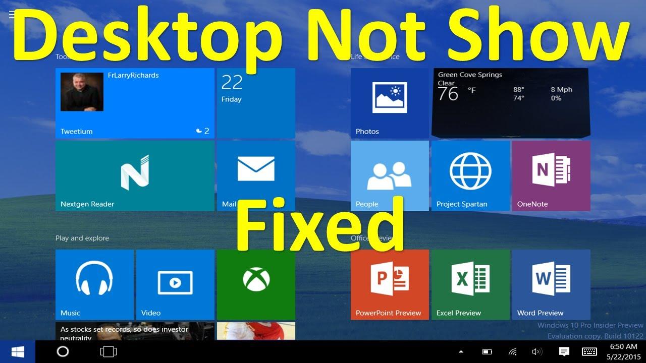 my desktop icons not showing windows 8