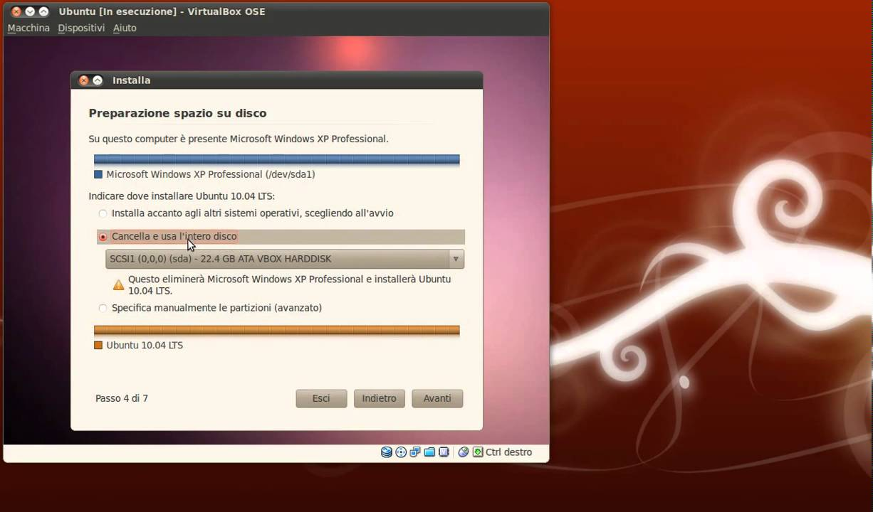 intero sito con ubuntu