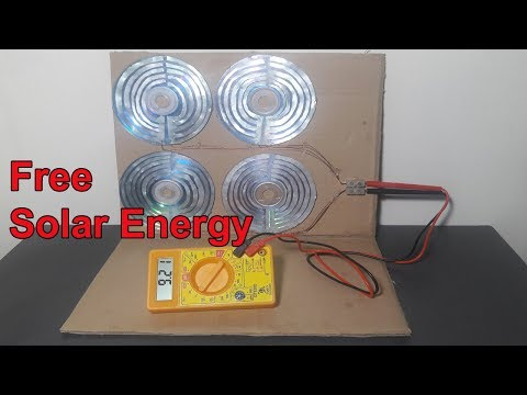 How to Make 10v Solar Energy - Free Solar Energy with Proof