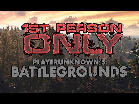 pubg how to play first person only