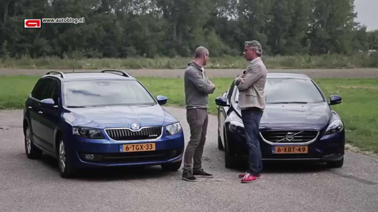 Skoda Octavia vs Volvo V40 - YouTube