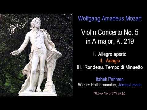 Mozart Violin Concerto No. 5 in A major, K. 219, Perlman, Levine, Vienna Phil.