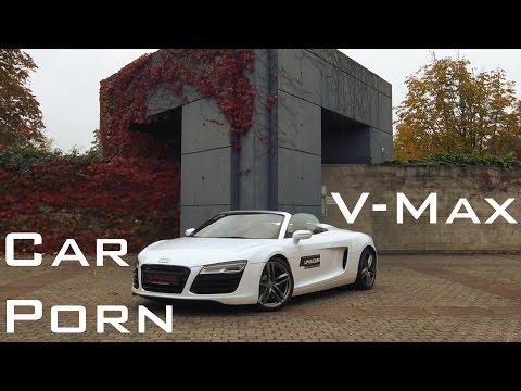 Audi R8 Spyder - Sound & Onboard Autobahn 0-300 Km/h & Launch Control Acceleration [V8]
