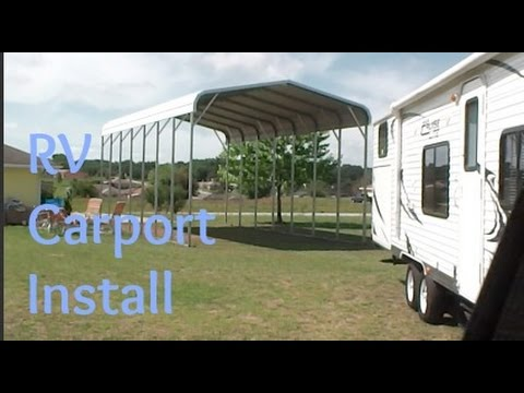 RV Carport Install & RV Carport Install - YouTube