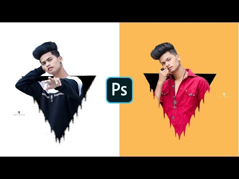 Photoshop Triangle Pop Out Effect / Photoshop Editing Tutorial / Photoshop New Style Editing 2020