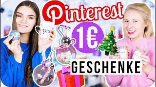 1€ easy DIY GESCHENKIDEEN für Weihnachten selber machen 🎁 // I