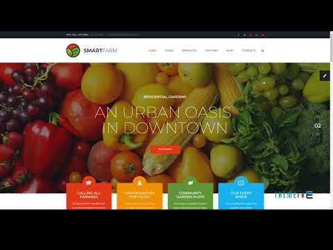 SmartFarm - Eco and Organic Farming/Gardening HTML template with Page