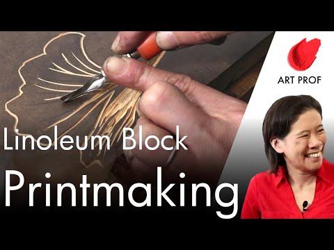 Linoleum Block Printmaking: Full Course / ART PROF