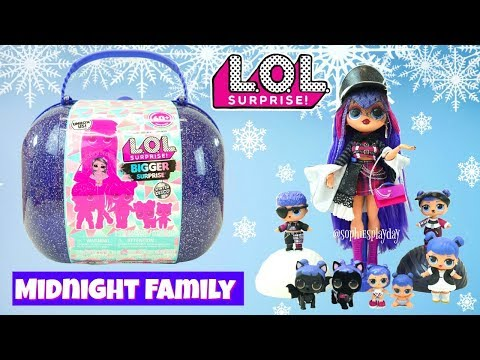 LOL Surprise Winter Disco Bigger Surprise with Exclusive OMG Doll Shadow! LOL Midnight Family