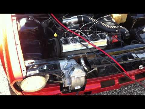 Audi 50 met Polo G40 motor start voor het eerst.