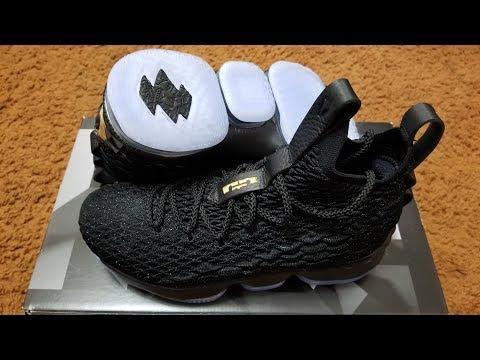 10e3a46befc0 On Feet Only! Nike Lebron 15 GS  Black   Metallic ...