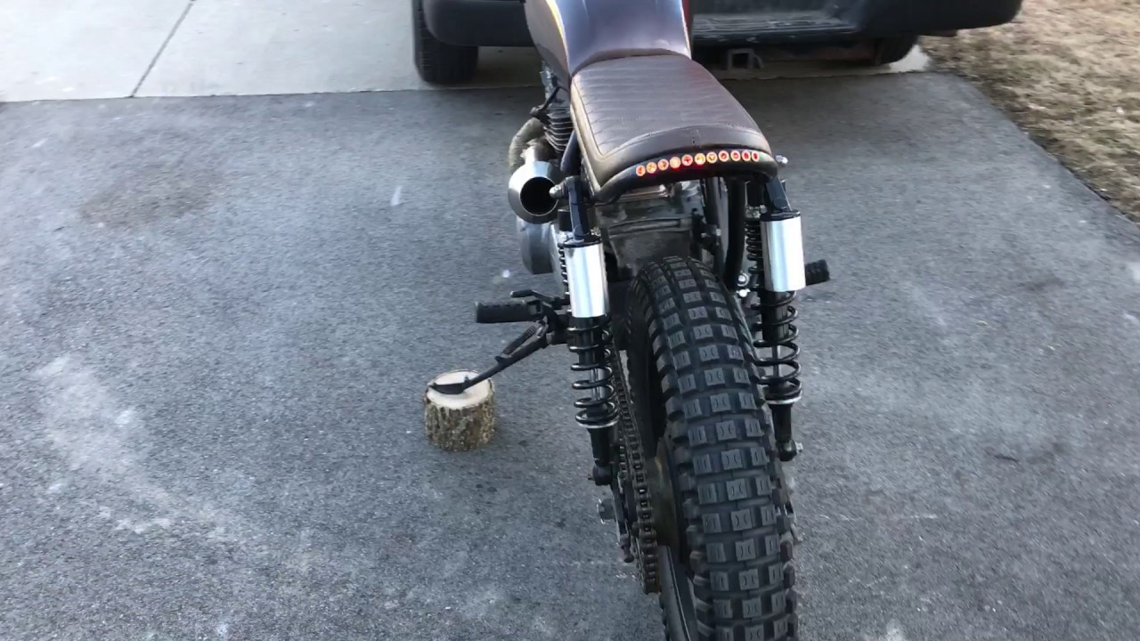 Kawasaki Kz400 Brown Bomber Scrambler Style Build By MF WALK