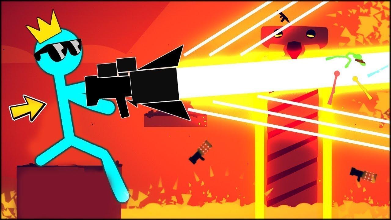 مضاربة العصيان | سلاح الليزر الخارق! Stick Fight