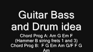 guitar bass drum idea