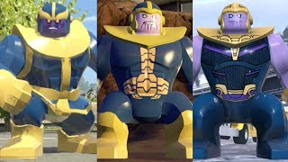 Thanos Evolution in Lego Marvel Videogames!!! (2013 - 2018)