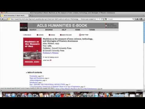 ACLS Humanities tutorial